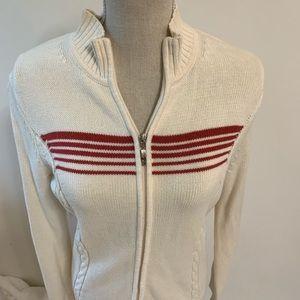 Women's Izod zip up Golf Sweater M